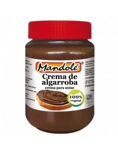 Crema de Algarroba Bio de Mandole, para untar, 100% vegetal.