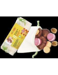 Bolsas de Algodón Orgánico Reutilizables Frutas y Verduras