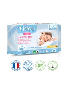 Toallitas Biodegradables ECO de Caléndula Sin Perfume para Bebé Tidoo