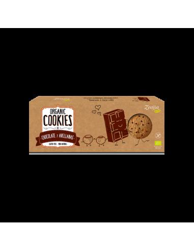 Cookies bio de chocolate y avellanas sin gluten zealia