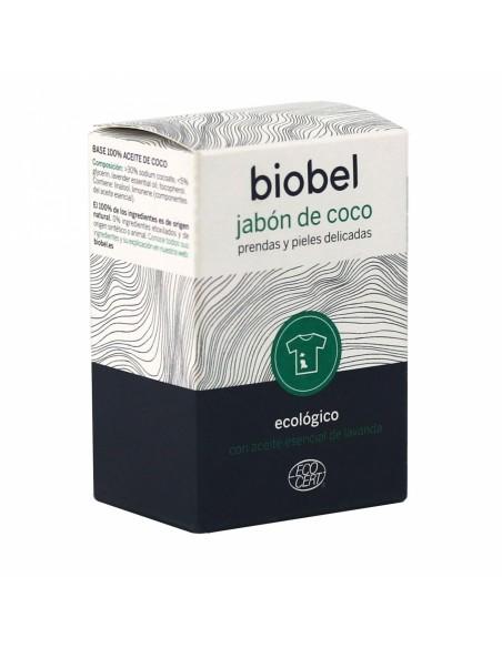 Pastilla de Jabón de Coco ecológico. Piel sensible y prendas delicadas. Biobel
