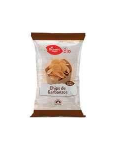 Chips de Garbanzos BIO Agricultura ecológica certificada. Aptos para veganos.