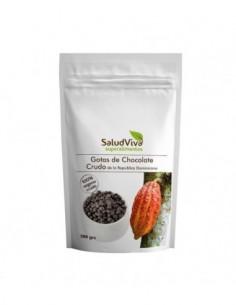 Gotas de chocolate puro organico  Salud Viva 200gr