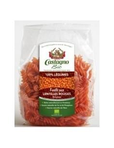Espirales de lentejas rojas Castagno 250gr